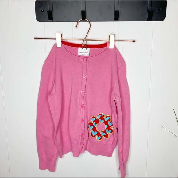 Hanna Andersson Other - Hanna Andersson Pink Cardigan Flower 130/7